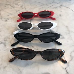 Trendy 2018 Small Tiny Cat Eye Sunglasses
